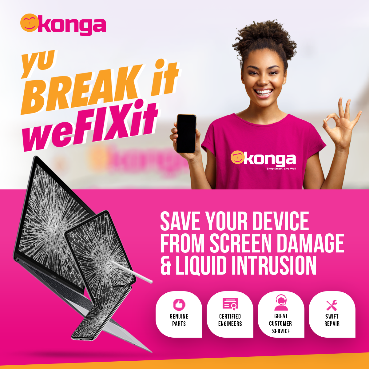 Konga Takes After-Sales Support To New Heights With Yu Break It; We Fix It
