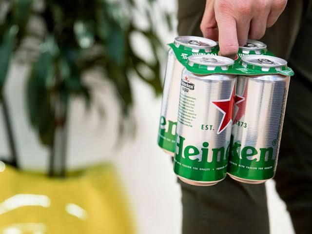 Heineken Introduces Cardboard Rings to Reduce Plastic Pollution