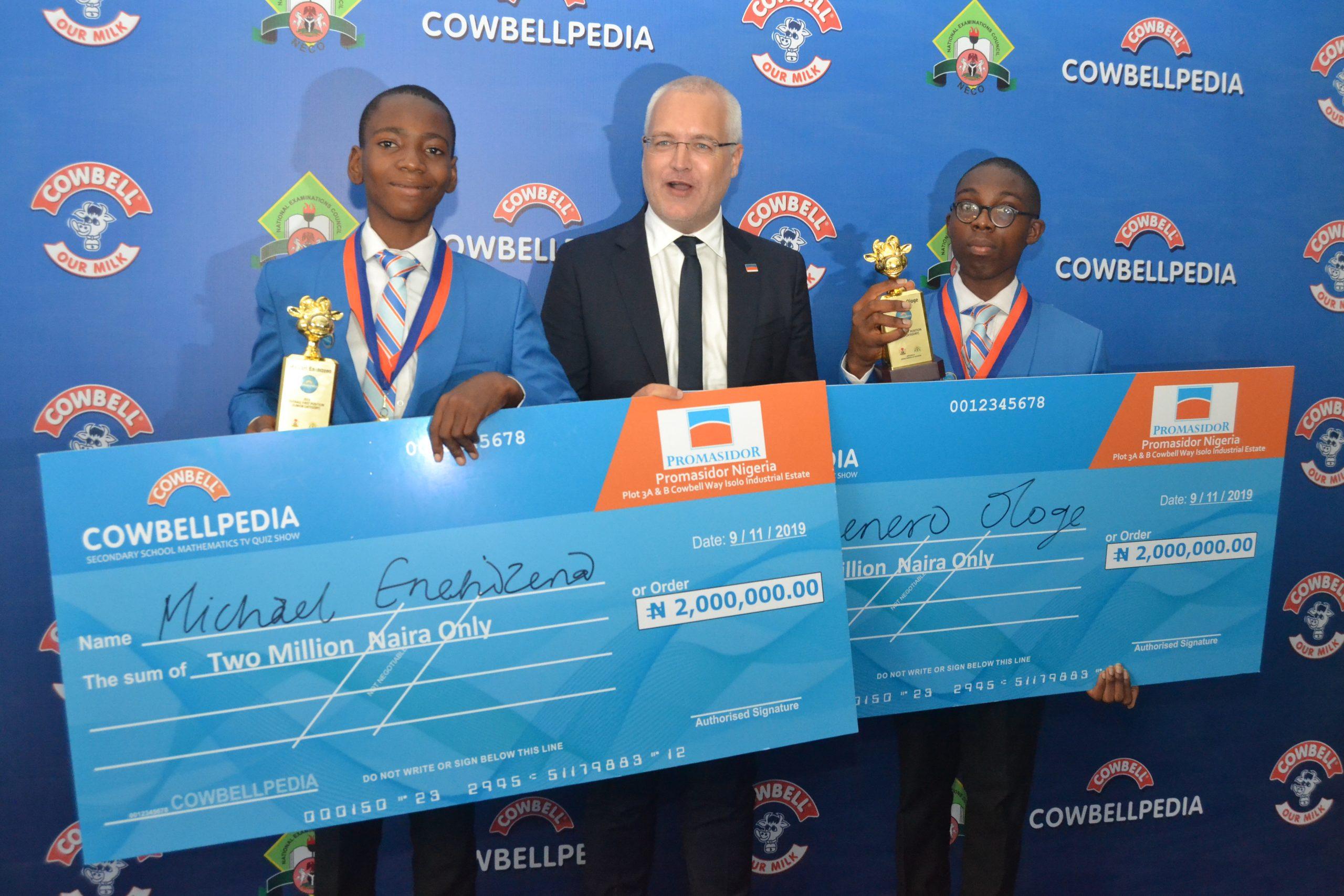 Lagos, Ogun Win 2019 Cowbellpedia Mathematics Competition