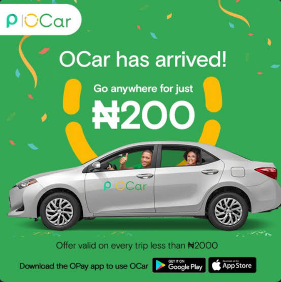 OPay Launches OCar, Set To Disrupt Uber, Bolt, Others