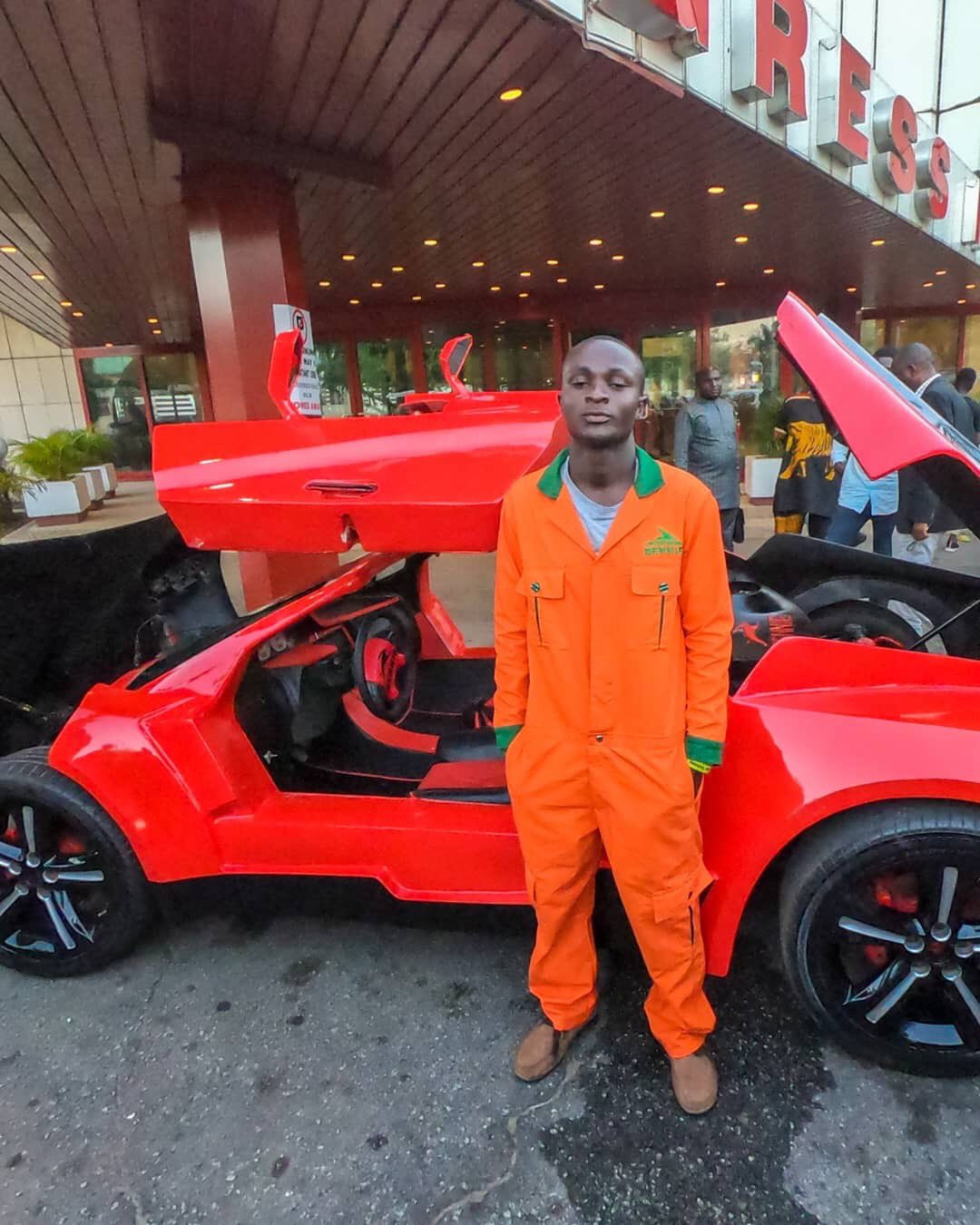 25 Year-Old Nigerian Designs, Builds and Unveils Nigerian First Carbon Fiber Sports Car in Jos (Photos)