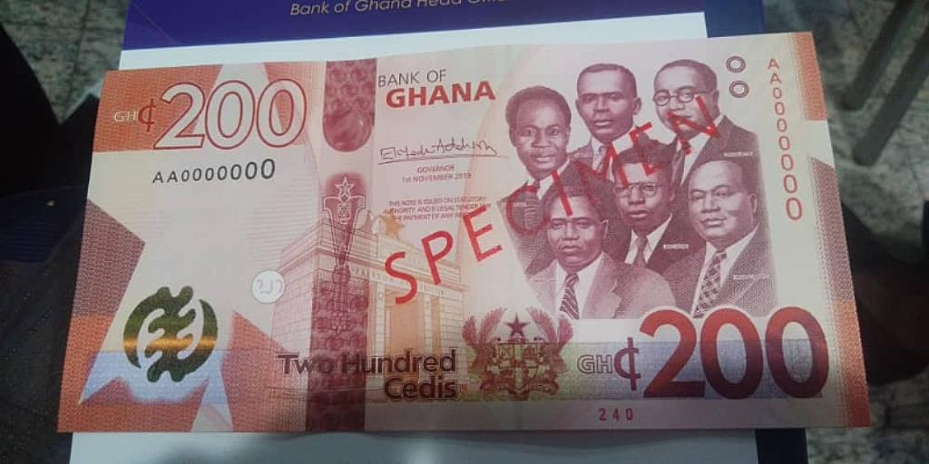 Bank of Ghana to introduce new GH¢100 and GH¢200 Banknotes