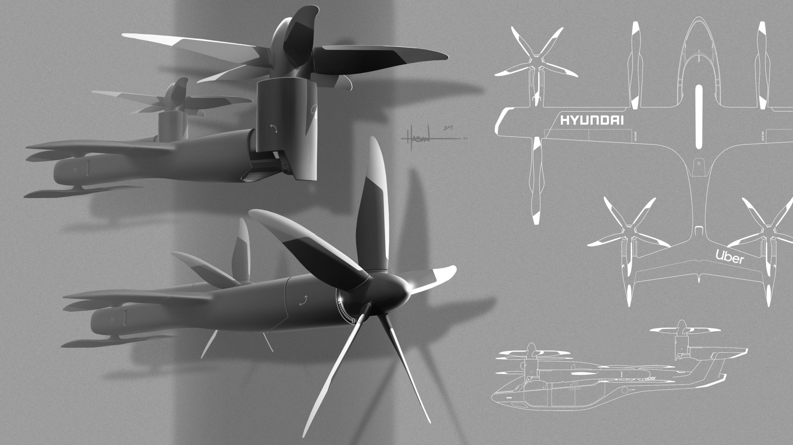 Uber and Hyundai Motor Announce Aerial Ridesharing Partnership, Release New Full-Scale Air Taxi Model at CES - Brand Spur