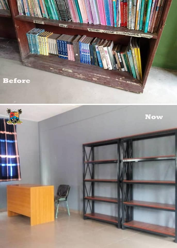 Newly upgraded and equipped Ajayi Crowther Memorial Senior Grammar School library (Photos)