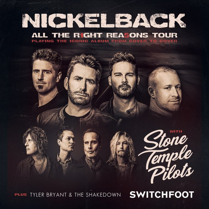 Nickelback Celebrates 15th Anniversary of Hit Album All the Right Reasons with New Tour - Brand Spur