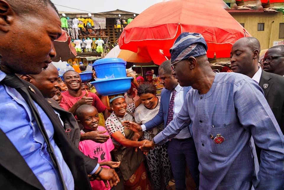 Photo News: Sanwo-Olu in crucial visit to Bariga Market
