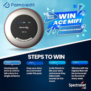 Spectranet Limited  and PalmCredict  Giveaway, Win Tecno smartphone and 60Gig mifi‎ - Brand Spur