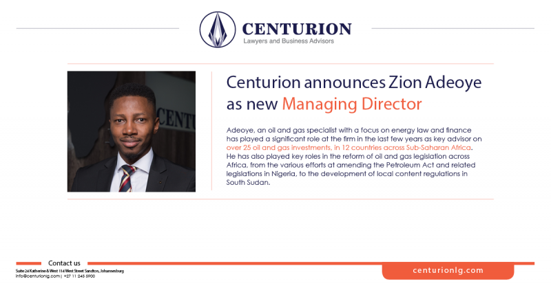 Africa's Leading Energy Law Group, Announces New Managing Director, Zion Adeoye
