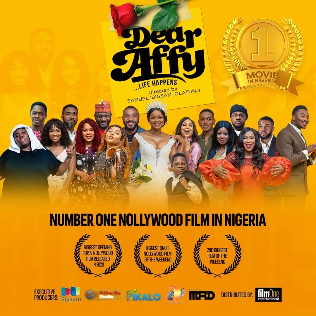 Dear Affy is the Number One Nollywood Movie at the Box Office - Brand Spur