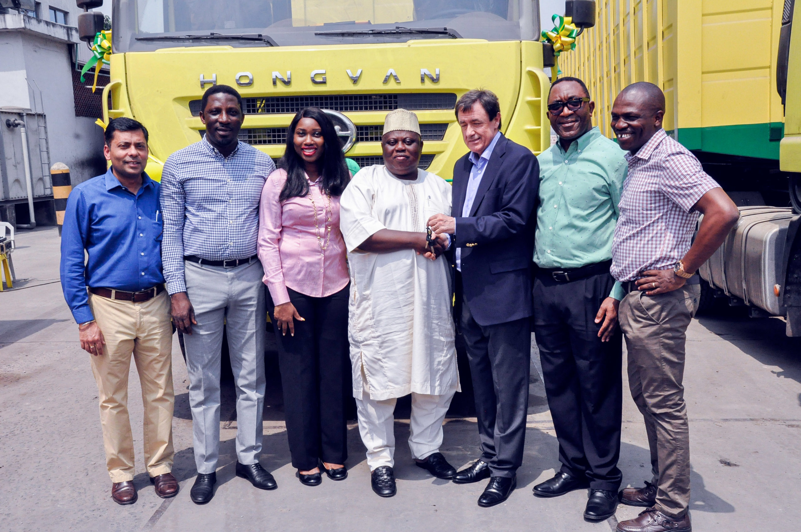 FMN Awards 30-tonne Delivery Truck to key Dealers (Photos)
