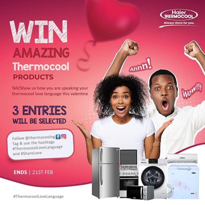 Haier Thermocool Valentine Contest, Tagged #ThermocoolLoveLanguage