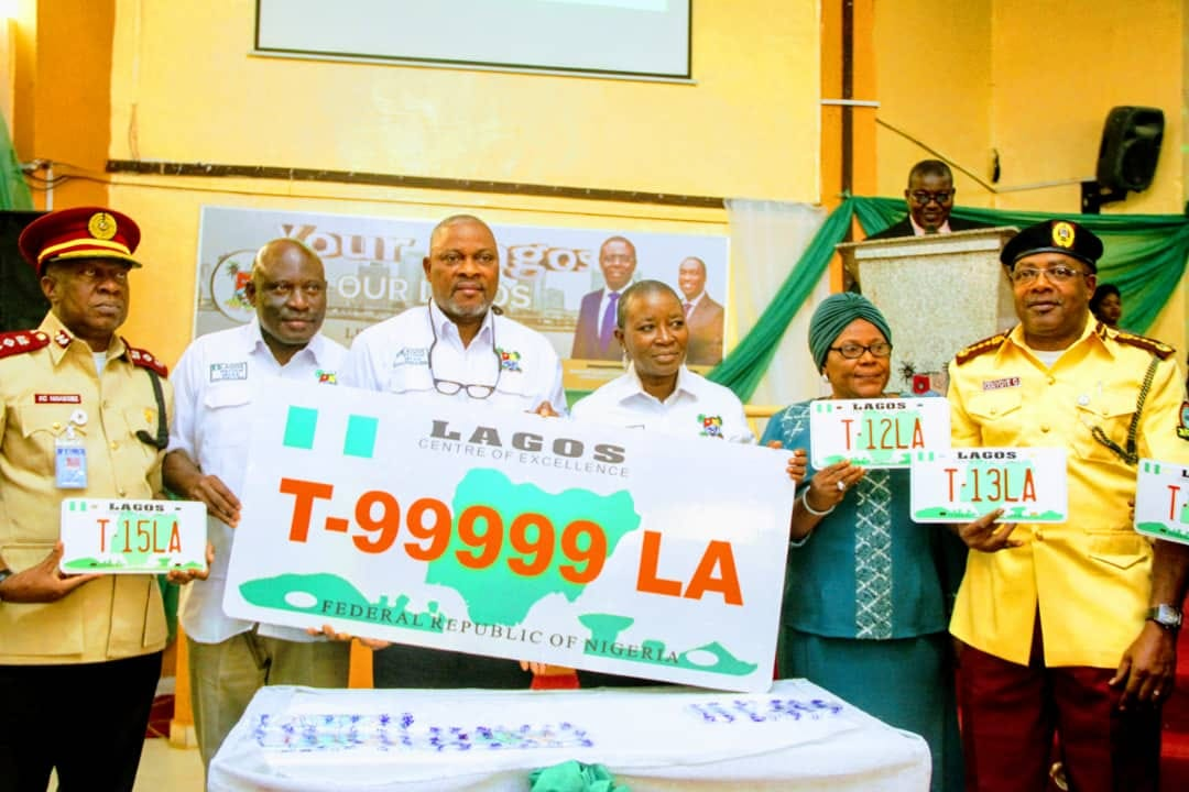 LASG launches Newly designed Articulated, Allied Vehicle Number Plate (Photo)