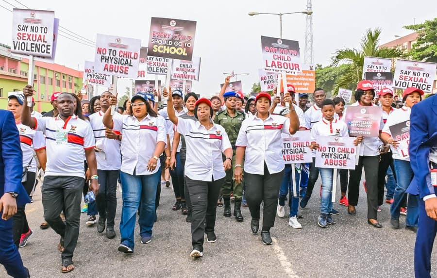 Lagos First Lady, Deputy Gov's Wife Lead Walk Against Child Abuse (Photos) - Brand Spur