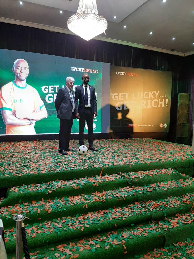 LuckyBet.NG Unveils Finidi George as Brand Ambassador (Photos)