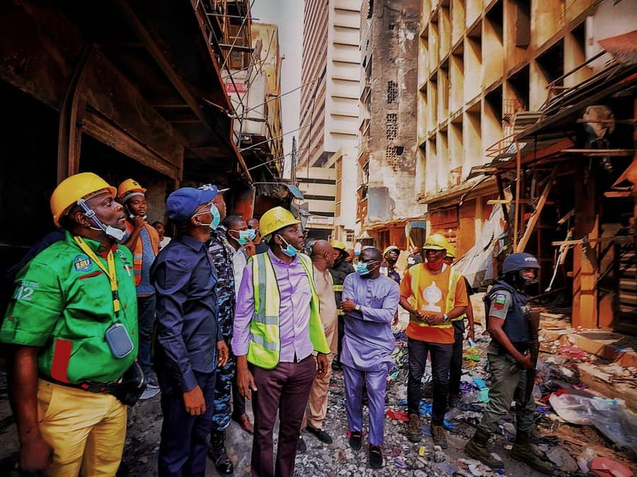 Sanwo-Olu expresses shock, sadness over Martins Street inferno (Photos) - Brand Spur