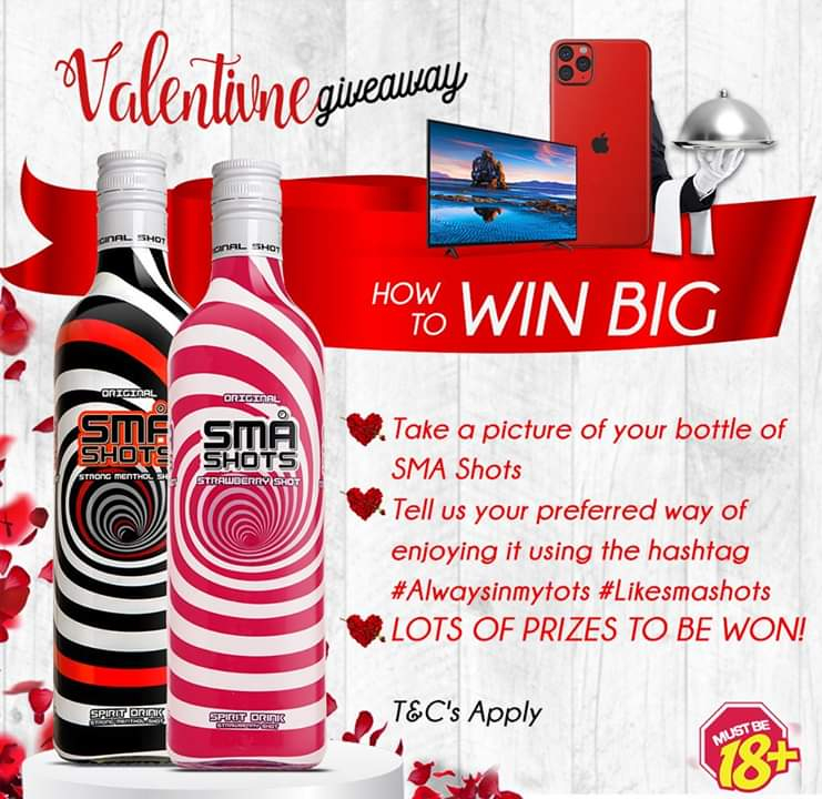 Sma Shots Valentine Giveaways Win, Smartphones, Tvs, and Dinner for 2 - Brand Spur