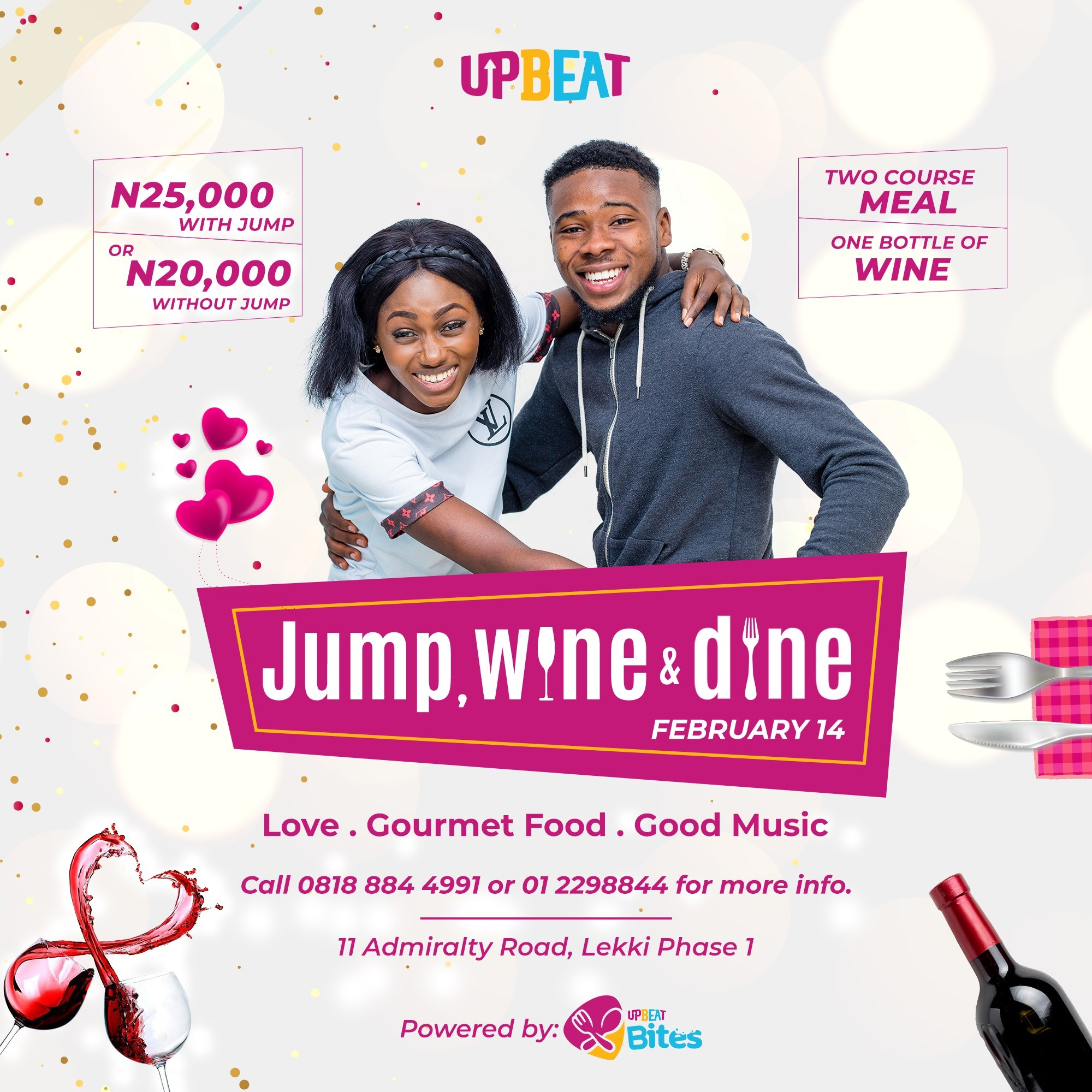 Upbeat Centre to Serenade Lovers With The Jump, Wine & Dine Promo This Valentine - Brand Spur