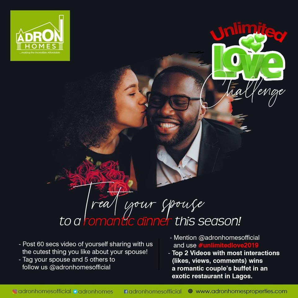 Adron Homes Unlimited Love Challenge - Brand Spur
