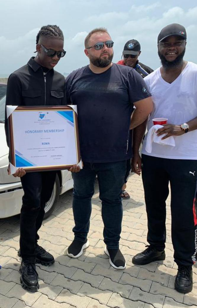 BMW CLUB awards Honorary membership to Rema of Mavin Records at Eko Atlantic (Photos) - Brand Spur