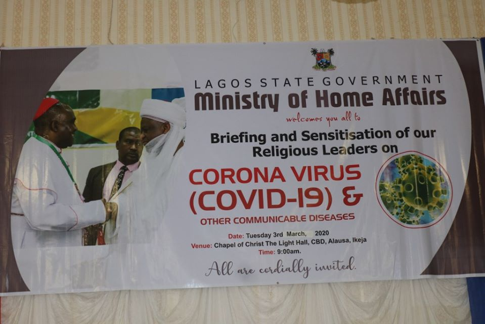 """COVID-19: """"Feed Your Congregation with Right Information"""" - LASG tells Religious Leaders - Brand Spur"""