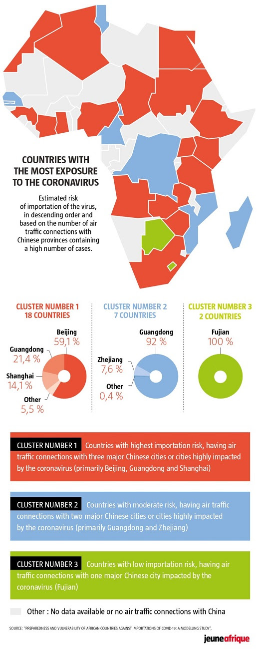 Coronavirus Africa map - Which Countries Are Most At Risk? - Brand Spur