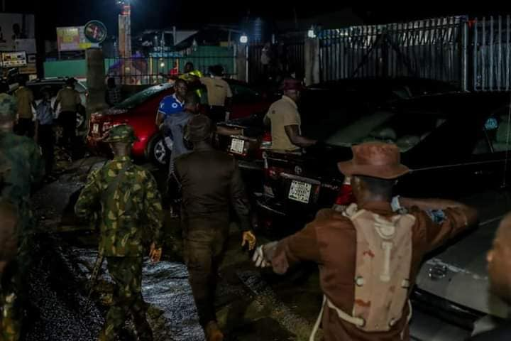 Covid-19: Oyo State Taskforce impounds 22 cars from errant clubs (Photos)