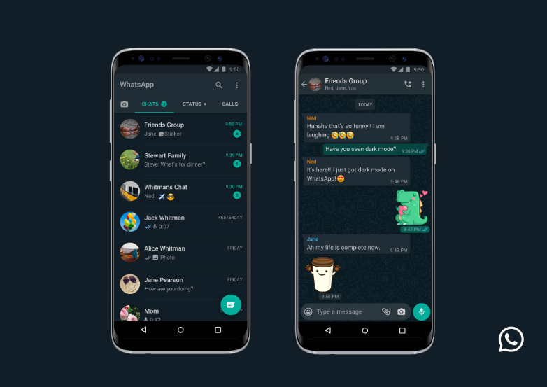 WhatsApp Dark Mode now available for iOS and Android - Brand Spur