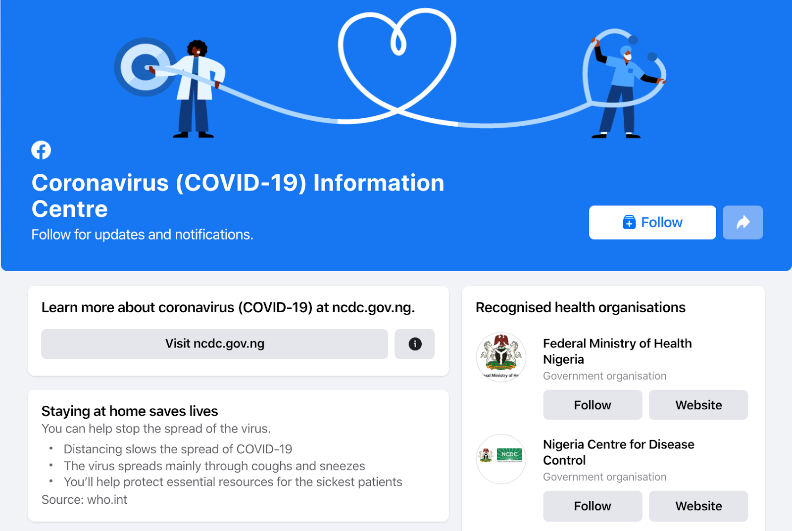 Facebook launches Coronavirus Information Centre in Nigeria, 16 Other African Countries - Brand Spur