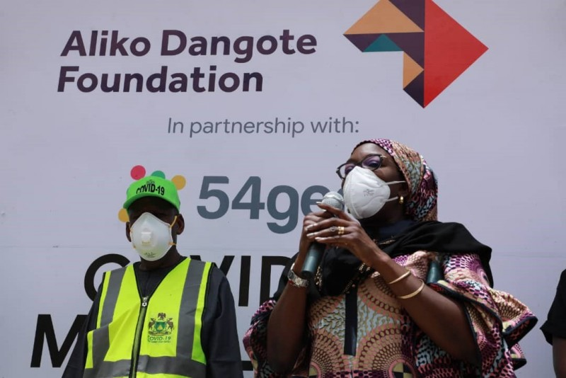 Aliko Dangote Foundation engages 54gene Laboratory to conduct 1,000 COVID-19 test per day in Kano (Photos) - Brand Spur