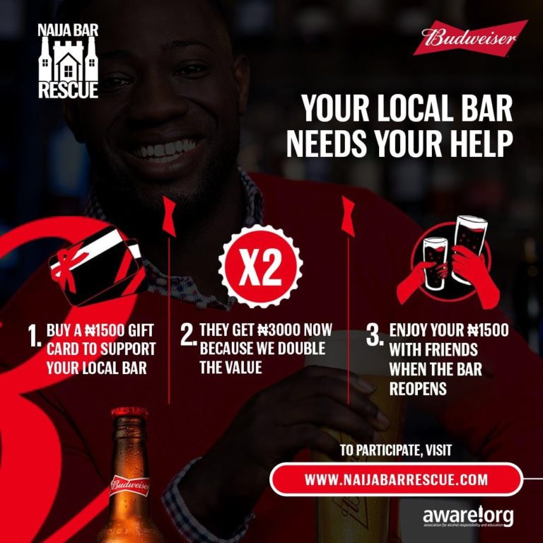 #NaijaBarRescue: How To Support Bar In This Lockdown - Budweiser Nigeria - Brand Spur