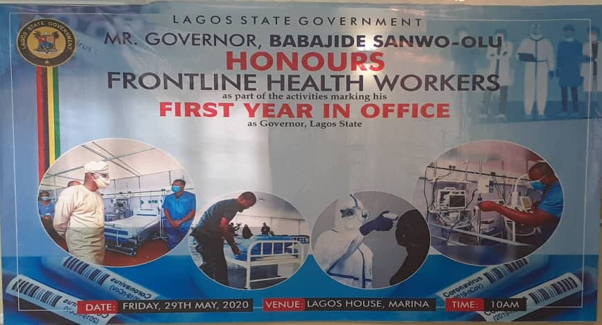 Sanwo-Olu Honours COVID-19 Frontline Health Workers to Commemorate One Year in Office