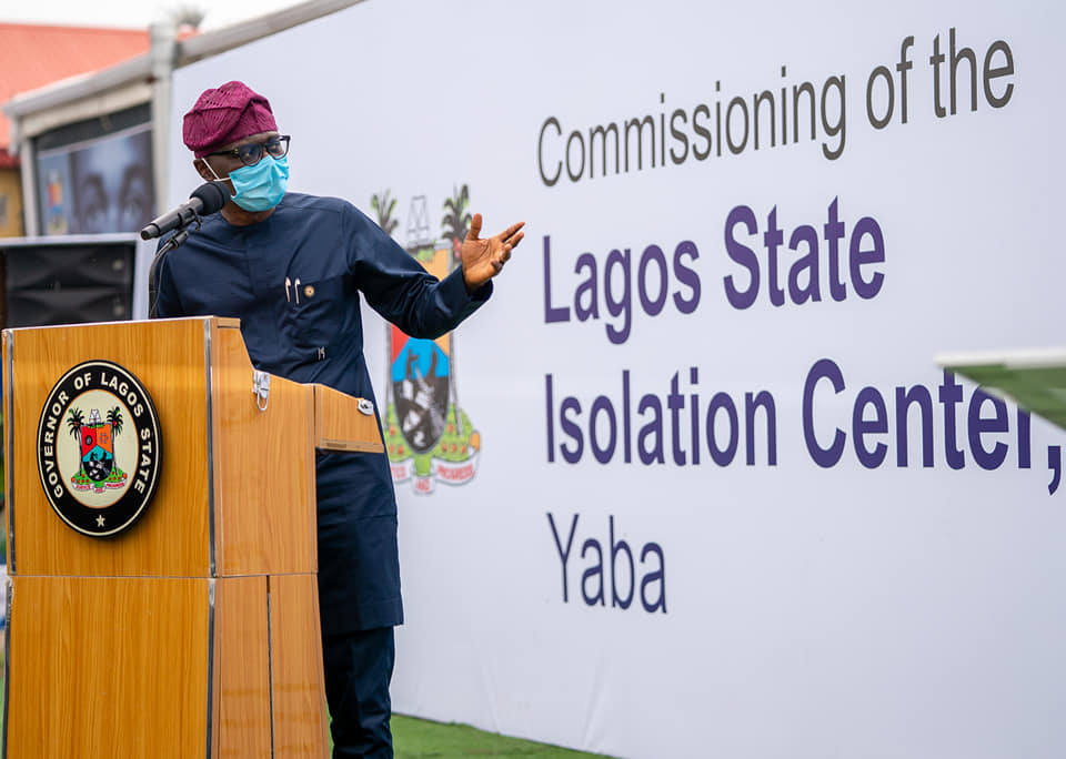 Sanwo-Olu Unveils 150-Bed Isolation Centre Built by CACOVID (Pictures) - Brand Spur