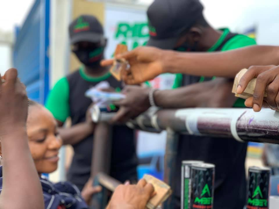 New Amber Energy Drink Excites Lagos Commuters with Free Bus Ride (Photos) - Brand Spur