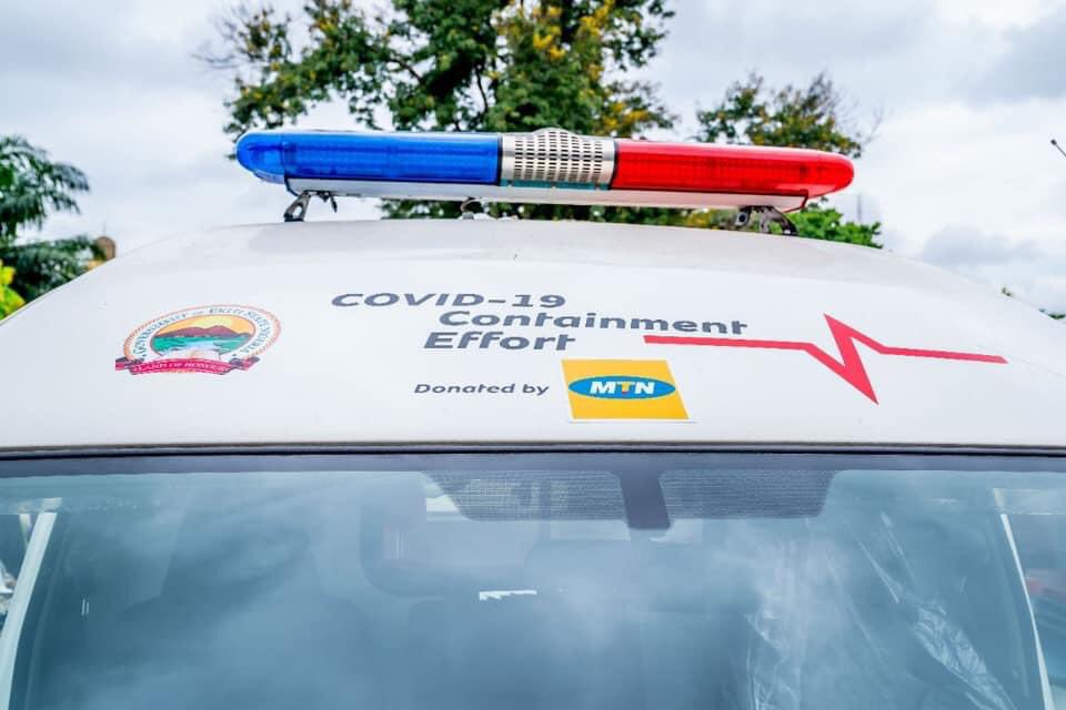 COVID-19: MTN Nigeria Supports Ekiti Government with Two Ambulances (Photos) - Brand Spur