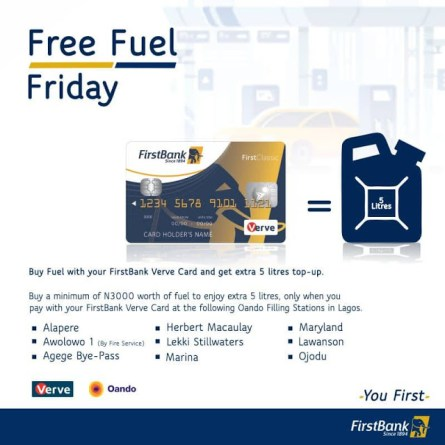 FirstBank Rewards its Verve Card Holders with Free Fuel - Brand Spur
