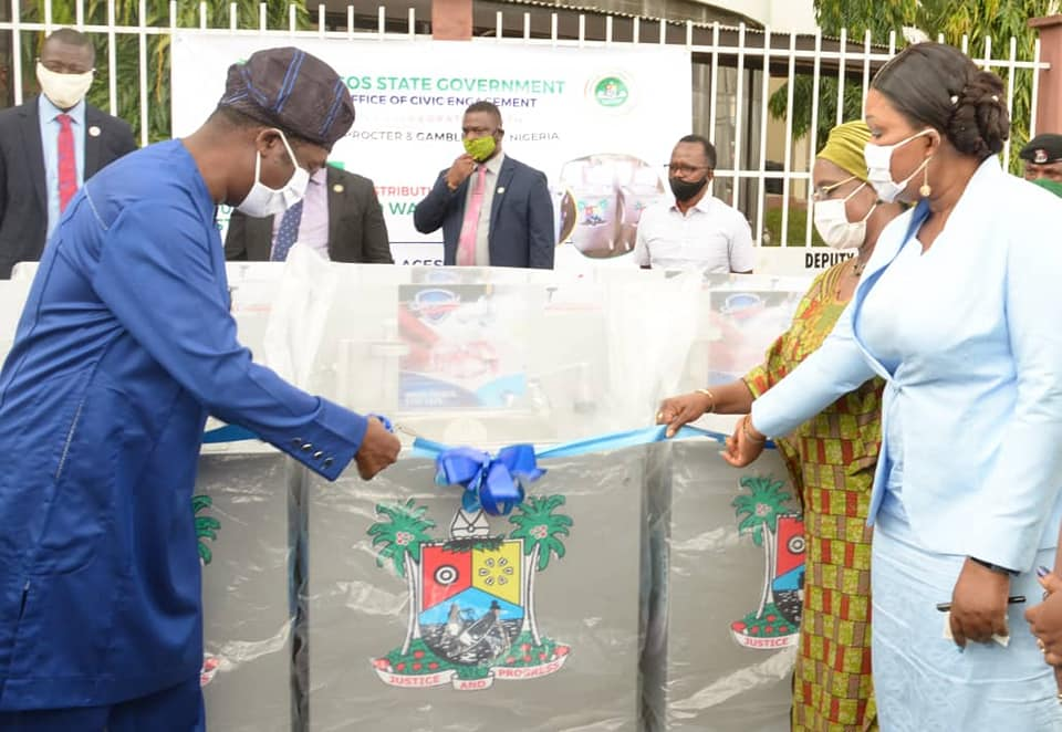 Lagos State Donates 100 Units of Handwashing Stations to Strategic Locations (Photos) - Brand Spur