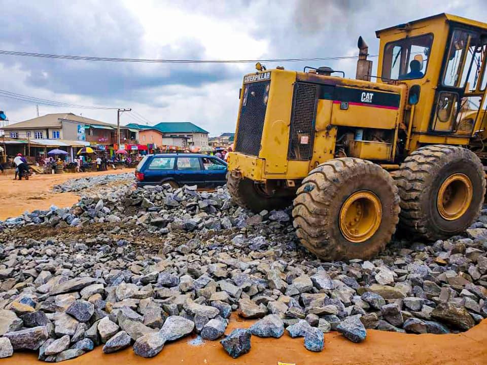 Ogun State Begins Work on Ojodu Abiodun, Akute Road (Photos) - Brand Spur