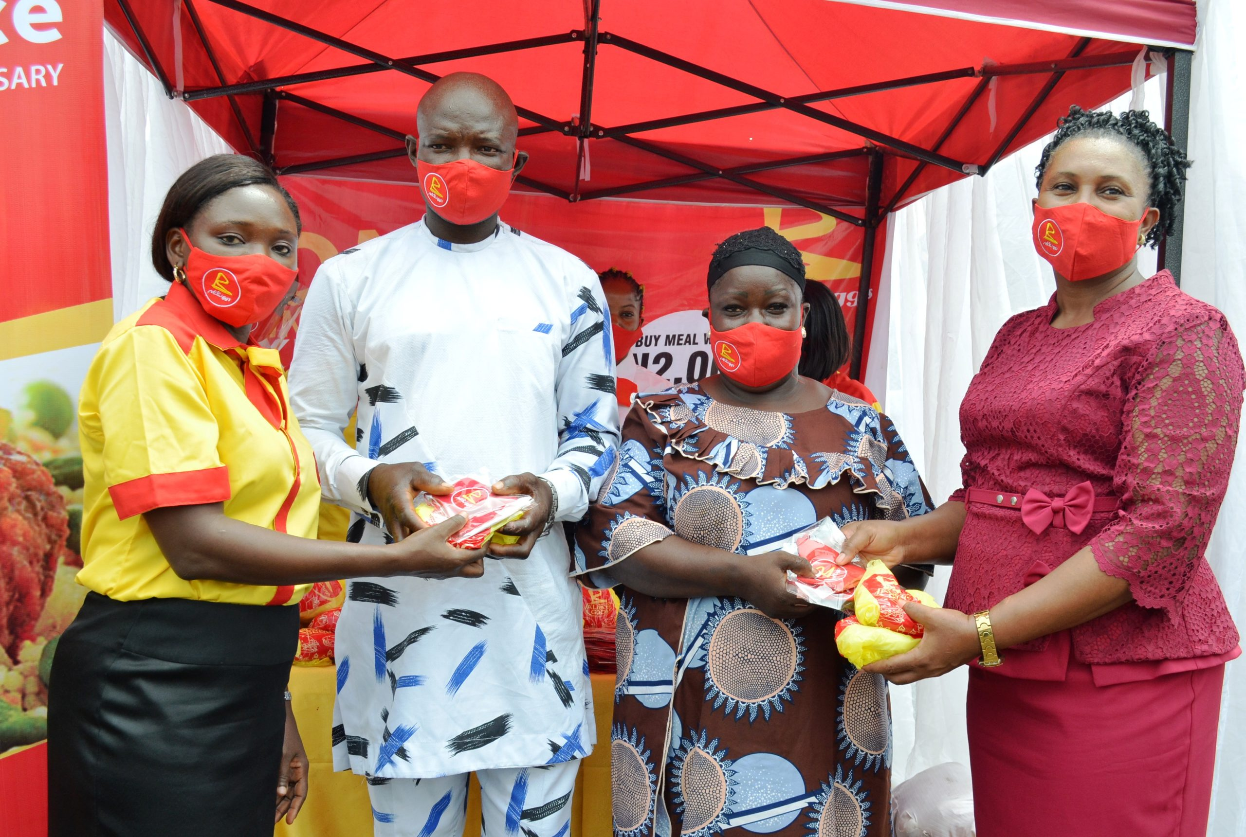 UAC Restaurants donates products, facemasks to health workers, traders, marks anniversary of Combo Store in Lekki - Brand Spur