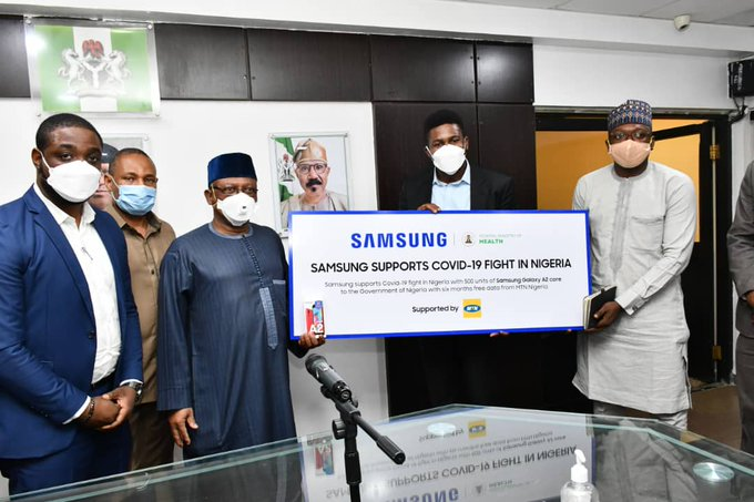 Samsung, MTN donates 500 units of Galaxy A2 Core devices to FG (Photos) - Brand Spur
