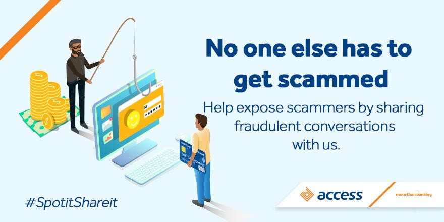 Access bank, Scammers, accounts
