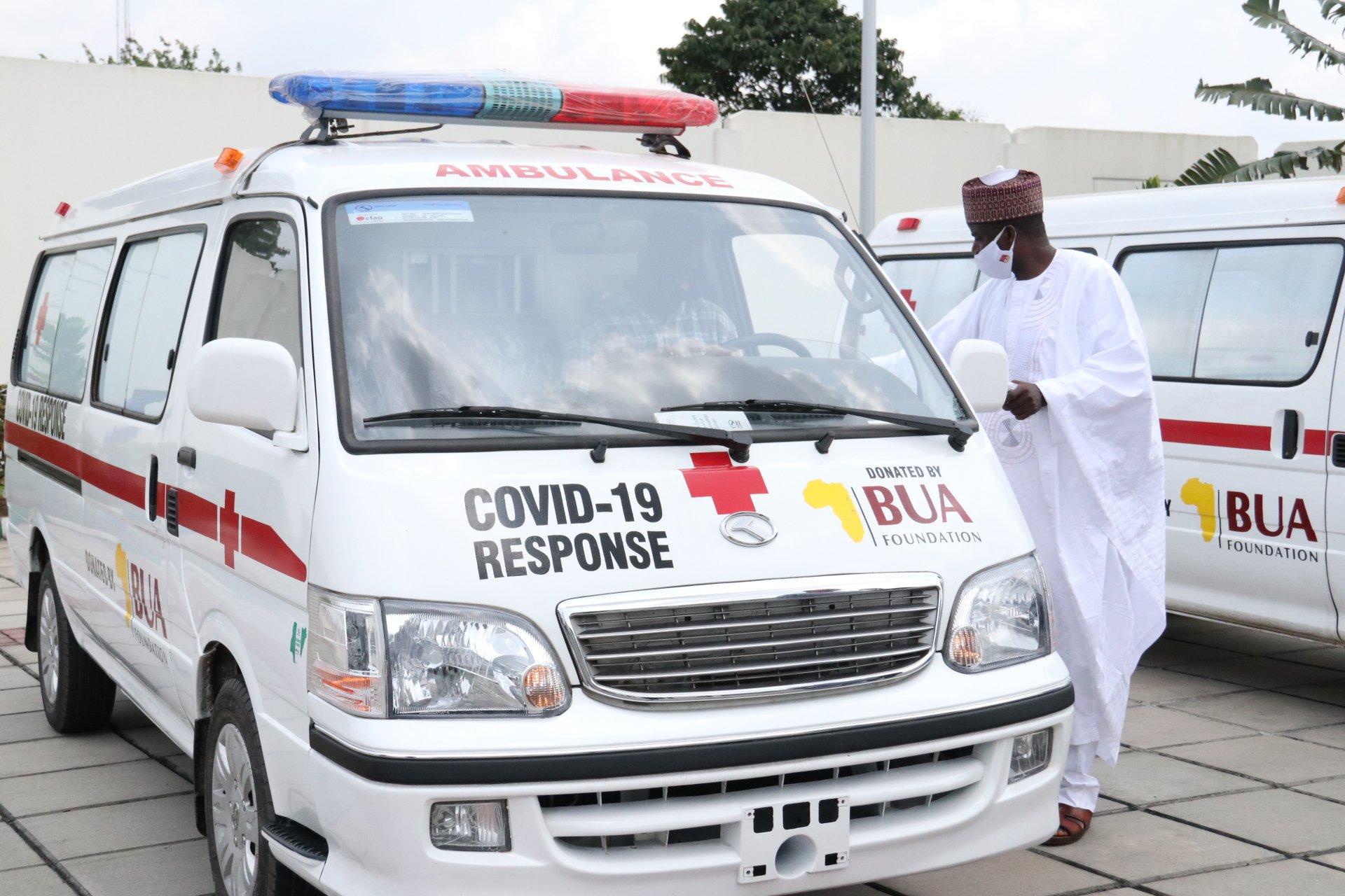 BUA Foundation donates 100,000 Facemasks, 5 Ambulances to Akwa Ibom State (Photos)