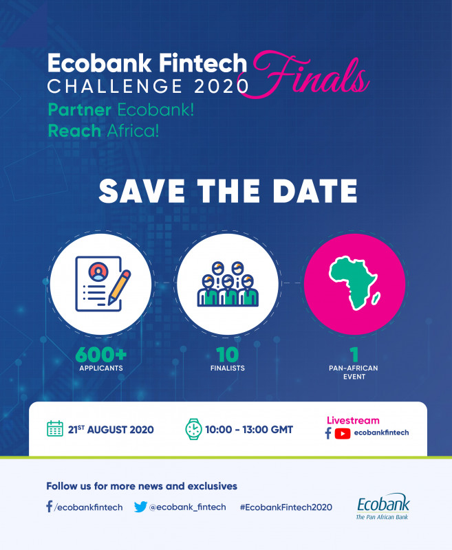 Ecobank Group announces the 2020 Fintech Challenge Finalists