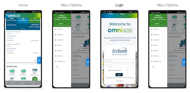 Ecobank Nigeria Launches Business Banking App - Omni Lite App