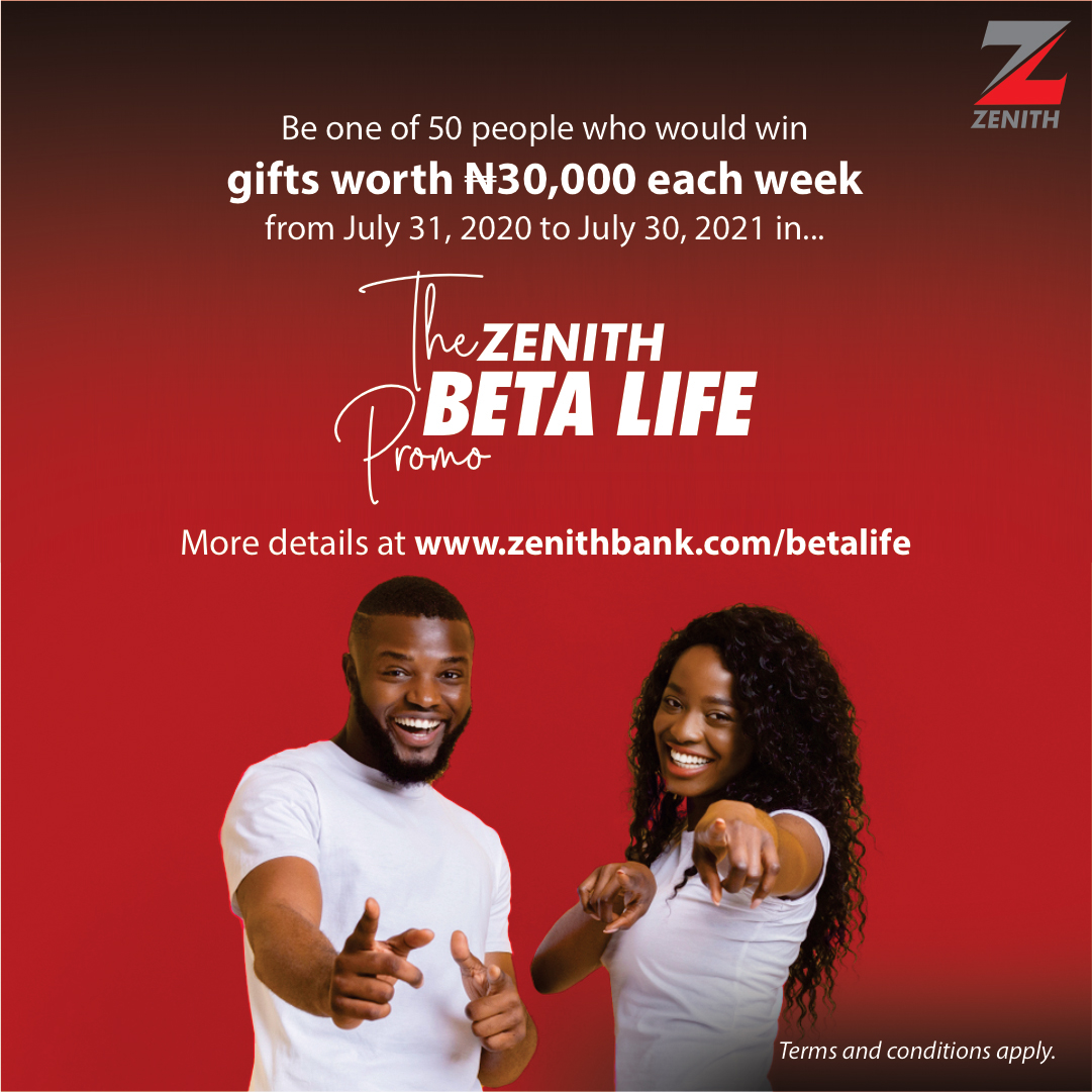 """Zenith Bank Rewards Customers with Massive Giveaways In The """"Zenith Beta Life"""" Weekly Promo - Brand Spur"""