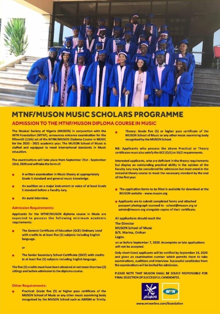 MUSON, MTN Foundation, MUSON Scholarship Programme,