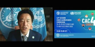 Codex Alimentarius is a driving force for ensuring food safety and trade standards during COVID-19, says FAO