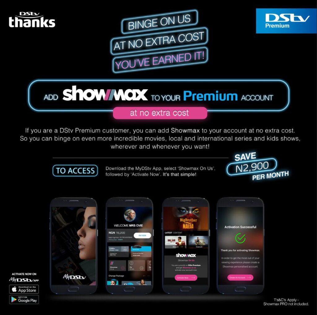 Showmax, DStv Premium,