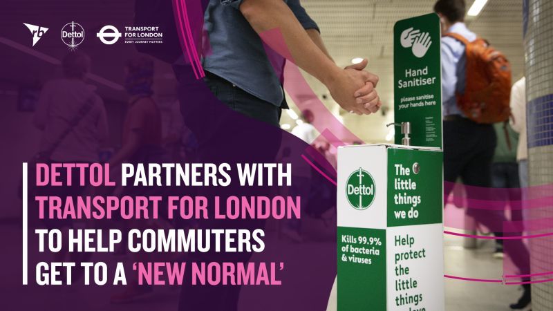 Dettol, Dettol Partners with Transport for London