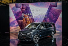 Made in China, for China market premiere of the new Mercedes-Benz V-Class