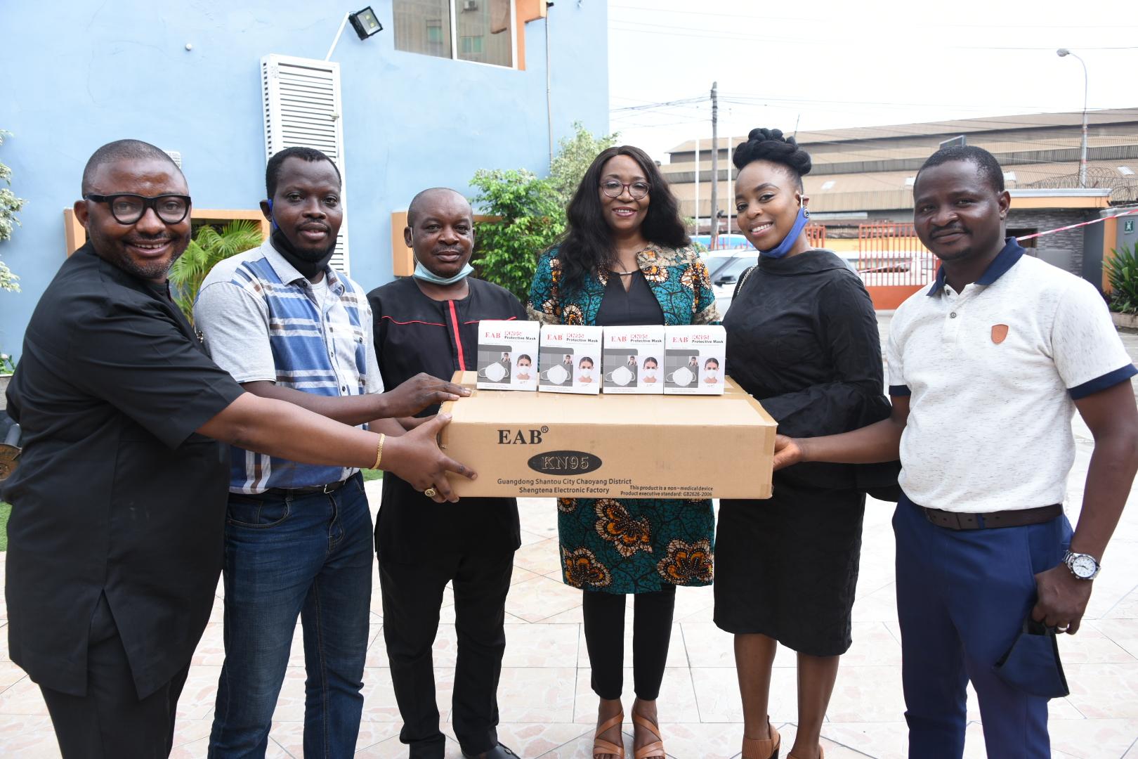 MultiChoice Nigeria visits BJAN, donates PPE to prevent COVID-19 spread - Brand Spur